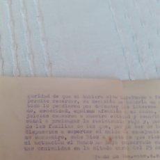 Documentos bancarios: CARTA,BANCO HERREO DE MIERES .TRATA DE LOS FONDOS DESAPARECIDOS DEL BANCO EL 18 DE JULIO DE 1936. Lote 281808013