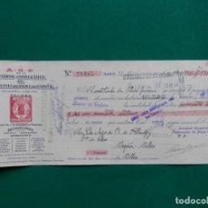 Documenti bancari: TOLOSA LETRA PRIVADA AÑO 1930 ALMACENES GENERALES PAPEL. FISCAL 7º. Lote 283314128