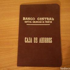 Documentos bancarios: LIBRETA BANCO CENTRAL 1929. Lote 286343038