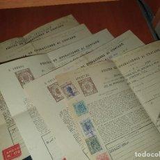 Documentos bancarios: POLIZAS DE OPERACIONES AL CONTADO, IBERDUERO, BANCO CENTRAL, BANCO POPULAR, UION ESPAÑOLA EXPLOSIVOS. Lote 286663713