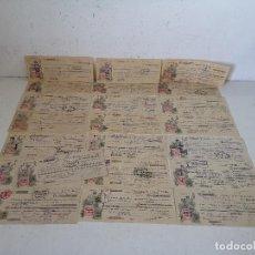 Documenti bancari: LOTE DE 22 ANTIGUOS DOCUMENTOS BANCARIOS, PAGARÉS, 1931 Y 32, MURCIA. Lote 287144768