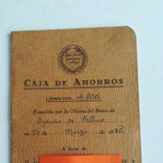 Documentos bancarios: LIBRETA CAJA DE AHORROS. BANCO POPULAR DE LOS PREVISORES DEL PORVENIR. AÑO 1935. Lote 288339628