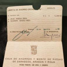 Documentos bancarios: LIBRETA DE AHORRO. Lote 293795473