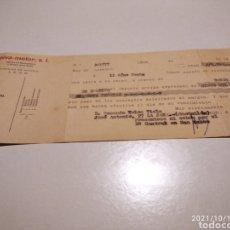 Documentos bancarios: LETRA PIVA MOTOR FÁBRICA DE MOTOCULTORES LEÓN. Lote 293835373