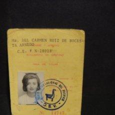 Documentos bancarios: FERIA INTERNACIONAL DEL PACIFICO LIMA , AÑO 1969 - TARJETA DE EXPOSITOR BANCO ESPAÑOL DE CREDITO. Lote 293953088