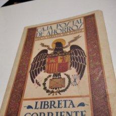 Documentos bancarios: LIBRETA CORRIENTE CAJA POSTAL DE AHORROS, RGTO INFANTERÍA 46. Lote 293975493