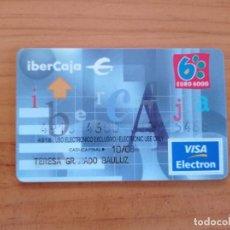 Documentos bancarios: TARJETA CRÉDITO. BANCO. IBERCAJA. VISA. EURO 6000. Lote 295792868