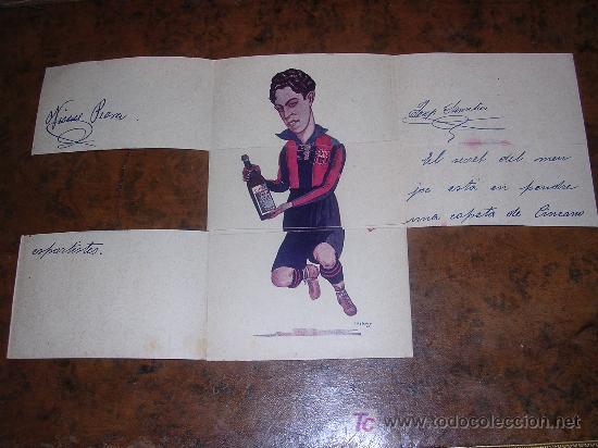 Coleccionismo deportivo: CINZANO VERMOUTH TORINO ( TRIPTICO F.C.BARCELONA ) SAMITIER - PIERA - ALCANTARA - Foto 3 - 20119822