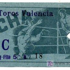 Coleccionismo deportivo: ENTRADA BOXEO O LUCHA LIBRE , EN VALENCIA AÑOS 60-70 EF170. Lote 20528717