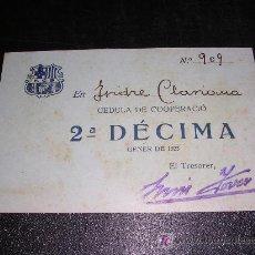 Coleccionismo deportivo: F.C.BARCELONA, 2ª DECIMA GENER DE 1923, Nº909. Lote 9480443