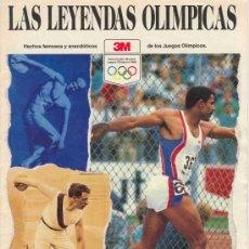 Coleccionismo deportivo: LAS LEYENDAS OLIMPICAS (1988). Lote 27444410