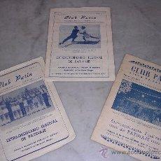 Coleccionismo deportivo: LOTE DE 3 PROGRAMAS DEL CLUB PATIN , PISTA PATINAJE, AÑOS 1949-50 Y 51, BARCELONA. Lote 8483533