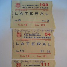 Coleccionismo deportivo: LOTE 3 ENTRADAS HOQUEI - FC BARCELONA - 1989/1990. Lote 8545966