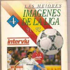 Coleccionismo deportivo: CINTA VHS LAS MEJORES IMAGENES DE LA LIGA 91-92 LAS MEJORES JUGADAS. Lote 9581568