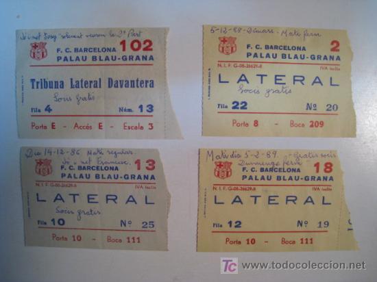LOTE ENTRADAS HOCKEY PATINES FC BARCELONA 1985/89 (Coleccionismo Deportivo - Documentos de Deportes - Otros)