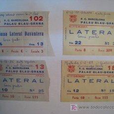 Coleccionismo deportivo: LOTE ENTRADAS HOCKEY PATINES FC BARCELONA 1985/89. Lote 9751074