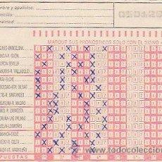 Coleccionismo deportivo: QUINIELA DE LA JORNADA 29 (17-3-1985), RELLENA Y NO SELLADA. Lote 9862841