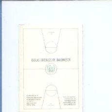 Coleccionismo deportivo: REGLAS OFICIALES DE BALONCESTO.PERIODO 72-76.FEDERACION ESPAÑOLA DE BALONCESTO. Lote 10106481