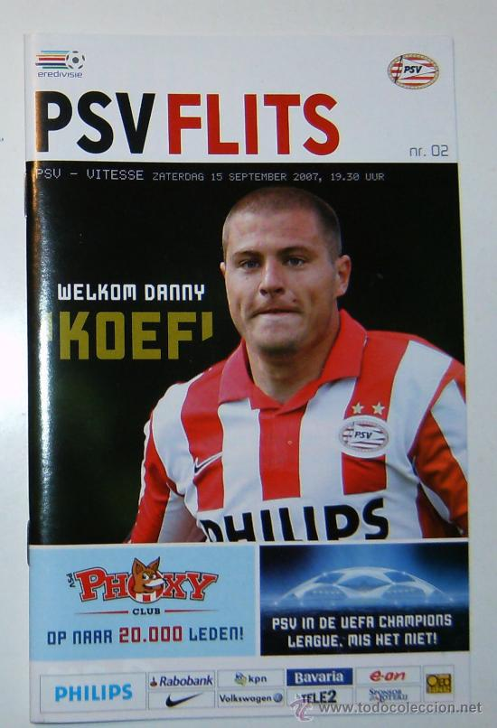 PROGRAMA PSV - VITESSE EREDIVISIE 2007/08 (Coleccionismo Deportivo - Documentos de Deportes - Otros)