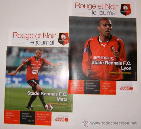 PROGRAMAS STADE RENNAIS LIGUE 1 2007/08 (VS METZ Y LYON) (Coleccionismo Deportivo - Documentos de Deportes - Otros)