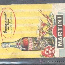 Coleccionismo deportivo: CAMPEONATO DE LIGA TEMPORADA 1952 - 53 PUBLICIDAD MARTINI. Lote 13112248
