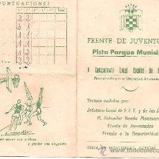 Coleccionismo deportivo: FRENTE DE JUVENTUDES OLESA DE MONSERRAT 1955. Lote 25086904