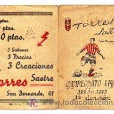 Coleccionismo deportivo: CAMPEONATO LIGA. 1941- 1942. 1 DIVISION. FUTBOL. CUADRO DE FECHA DE CELEBRACIONES DE PARTIDOS.. Lote 15985687