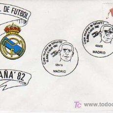 Coleccionismo deportivo: SOBRE DE PRIMERIA-MUNDIAL ESPAÑA 82-ATLETICO DE MADRID Y REAL MADRID. Lote 16107735