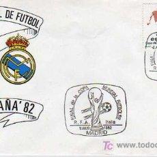 Coleccionismo deportivo: SOBRE DE PRIMERIA-MUNDIAL ESPAÑA 82-ATLETICO DE MADRID Y REAL MADRID. Lote 16107721