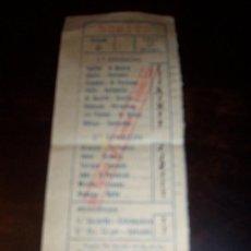 Coleccionismo deportivo: RESGUARDO QUINIELA 1954. Lote 20795518