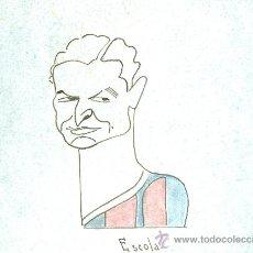 Coleccionismo deportivo: ESCOLA (FÚTBOL C. BARCELONA). CARICATURA ORIGINAL A TINTA, 14X10 CM. AÑOS 30.. Lote 17733336