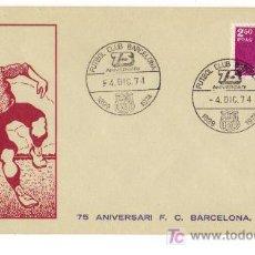 Coleccionismo deportivo: CARTA 75 ANIVERSAI F.C. BARCELONA 1899-1974. Lote 27546205