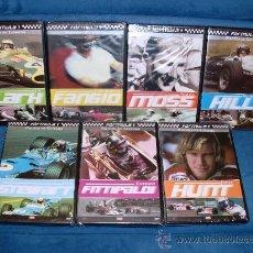 Coleccionismo deportivo: DVD FORMULA 1 GRAHAM,STIRLING,JAMES.JIM,JUAN MANUEL,JACK Y EMERSON (7 DVD) PRECINTADO. Lote 20013268