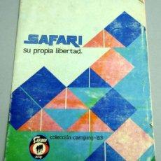 Coleccionismo deportivo: CATÁLOGO SAFARI ALTUS YUMA MATERIAL CAMPING 1983. Lote 20483165