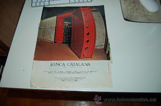 HOJA PUBLICITARIA DE BANCA CATALANA. 1969. IDEAL PARA ENMARCAR (Coleccionismo Deportivo - Documentos de Deportes - Otros)
