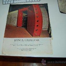 Coleccionismo deportivo: HOJA PUBLICITARIA DE BANCA CATALANA. 1969. IDEAL PARA ENMARCAR. Lote 20775305