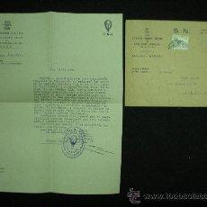 Coleccionismo deportivo: CICLISMO. CARTA Y SOBRE. MANRESA. SOBRE FINAL DE ETAPA DE LA VUELTA CICLISTA A CATALUNYA. 1941.. Lote 21142533
