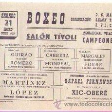 Coleccionismo deportivo: PUBLICIDAD BOXEO EN SALÓN TÍVOLI MATARO / AÑOS 60. Lote 21672187