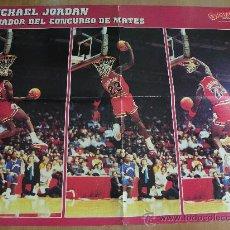 Coleccionismo deportivo: POSTER NBA AÑOS 80, BASKET USA.... MICHAEL JORDAN, CHICAGO BULLS, CONCURSO MATES....MUY RARO!!!!!!. Lote 26488877