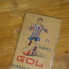 Coleccionismo deportivo: EL PAPEL GOL SUAVIZA EL TABACO. REGLAMENTO DE FOOTBALL Y VOCABULARIO INGLES.. Lote 22566146