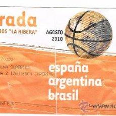 Coleccionismo deportivo: ENTRADA DE BALONCESTO ESPAÑA VS BRASIL. Lote 23027698
