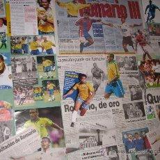 Coleccionismo deportivo: LOTE RECORTES DE ROMARIO (PSV - BARCELONA - BRASIL - VALENCIA ...). Lote 24114124