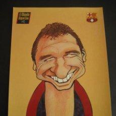 Coleccionismo deportivo: CARICATURA EUSEBIO. FUTBOL CLUB BARCELONA. DREAM TEAM. EL MUNDO DEPORTIVO 1994. Lote 24412808