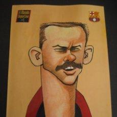 Coleccionismo deportivo: CARICATURA DE S. JARA. FUTBOL CLUB BARCELONA. DREAM TEAM. EL MUNDO DEPORTIVO 1994. Lote 24413123