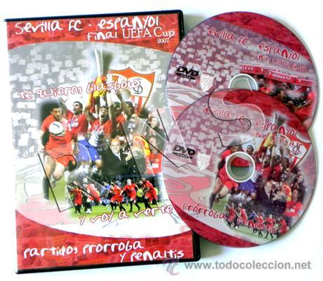 DVD FINAL DE LA COPA UEFA 2007 SEVILLA FC ESPANYOL FÚTBOL DEPORTE ESPAÑOL PARTIDO HISTÓRICO GLASGOW (Coleccionismo Deportivo - Documentos de Deportes - Otros)
