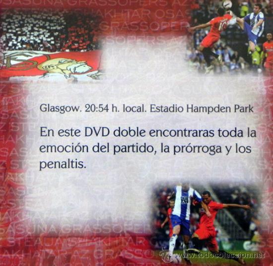 Coleccionismo deportivo: DVD FINAL DE LA COPA UEFA 2007 SEVILLA FC ESPANYOL FÚTBOL DEPORTE ESPAÑOL PARTIDO HISTÓRICO GLASGOW - Foto 2 - 26292760