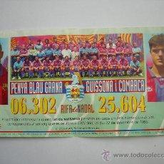 Coleccionismo deportivo: PARTICIPACION DE LOTERIA DEL F.C BARCELONA. Lote 25175071