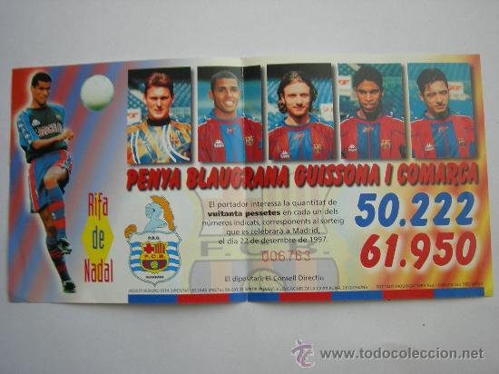 PARTICIPACION DE LOTERIA DEL F.C BARCELONA (Coleccionismo Deportivo - Documentos de Deportes - Otros)