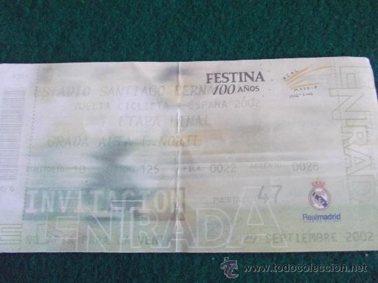 VUELTA CICLISTA A ESPAÑA 2002-ETAPA FINAL SANTIAGO BERNABEU- (Coleccionismo Deportivo - Documentos de Deportes - Otros)