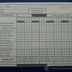 Coleccionismo deportivo: QUINIELA JORNADA 3, FECHA 16-9-1973 -. Lote 25775927